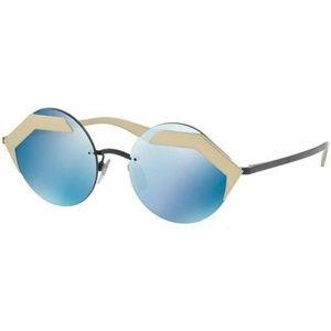 Bvlgari Round Style Sunglasses Blue Mirror Lens